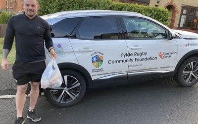 Fylde Rugby Community Foundation delivering food parcels during lockdown