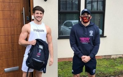 Special delivery for Stourbridge Rugby Academy students
