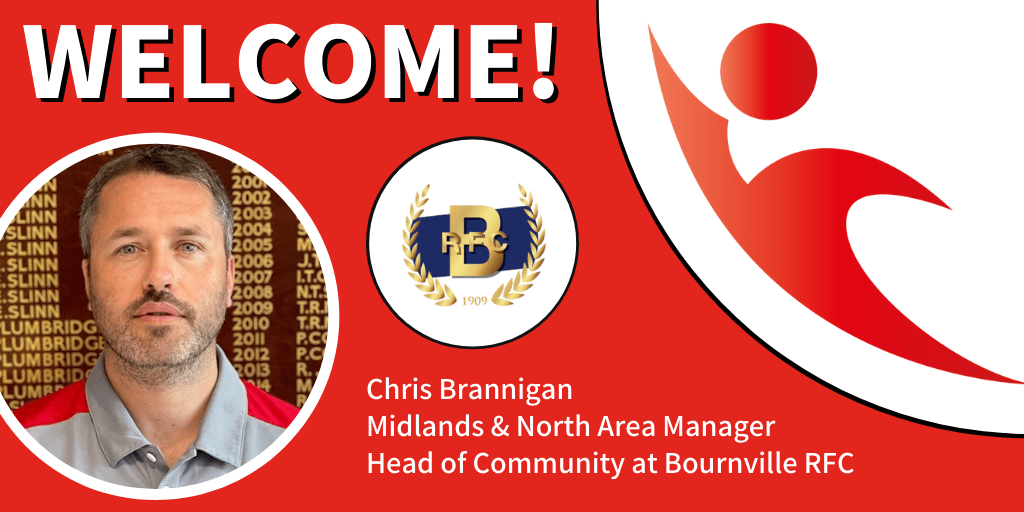 Chris Brannigan appointed Midlands & North Area Manager and Head of Community at Bournville RFC